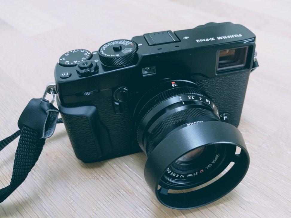 Fujifilm X-Pro2 mit Fujinon XF35 F2 R WR und Streulichtblende LH-XF35-2