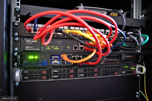 Innenleben Serverschrank