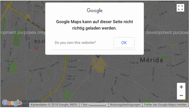 Google Maps: For Development Purpose Only