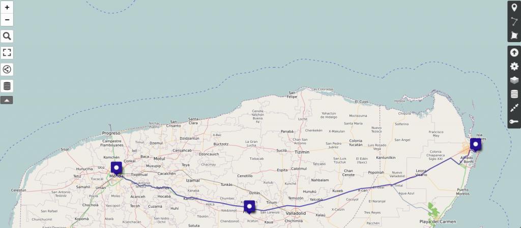 uMap: Importierte Route