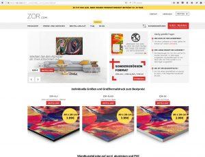 Homepage von ZOR.com