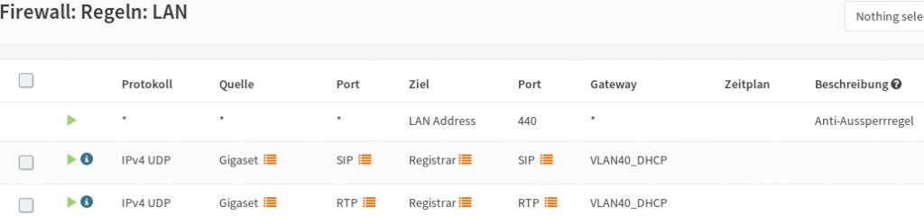 OPNsense: VoIP-Regeln für LAN